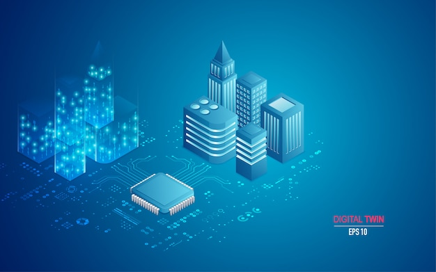 Concept of digital twin in isometric