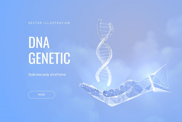 Concept of dna in hand.