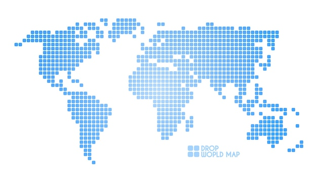 Concept dots world map illustration