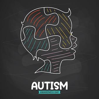 Концептуальный рисунок осведомленности об аутизме