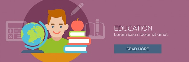 Concept for education, back to school banner