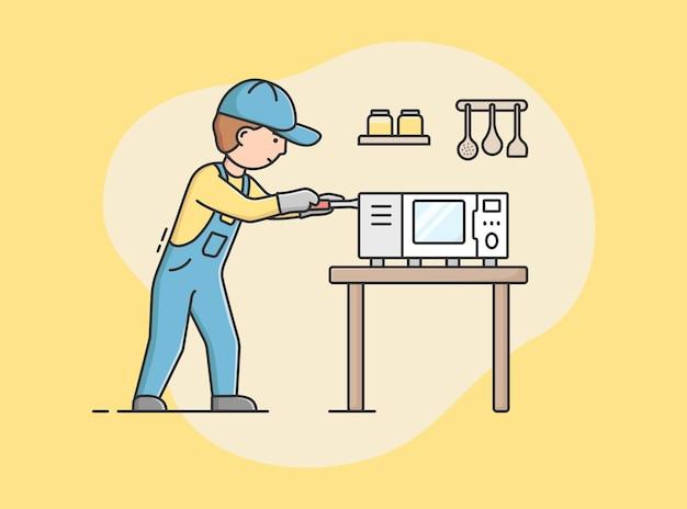 Concept of electric appliances service.