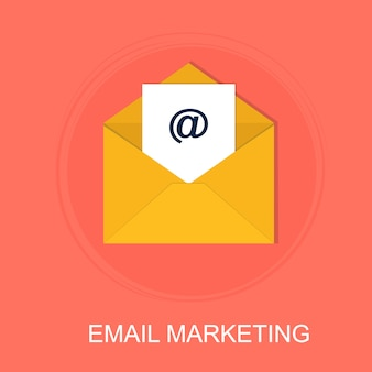 The concept of email marketing and communication with digital advertising
