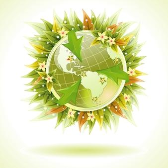Concept - environmentally friendly planet