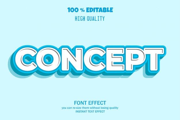 Concept font effect