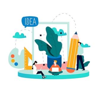 Концепция графического дизайна, веб-дизайна, дизайн-студии