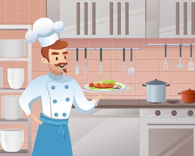 Концепция иллюстрации ресторанного бизнеса