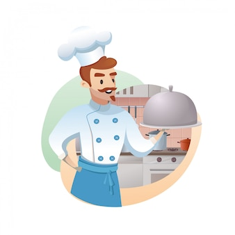Concept illustration of the restaurant business