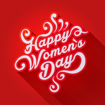 Concept illustration where it is written happy women's day