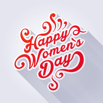 Concept illustration where it is written happy womens day.