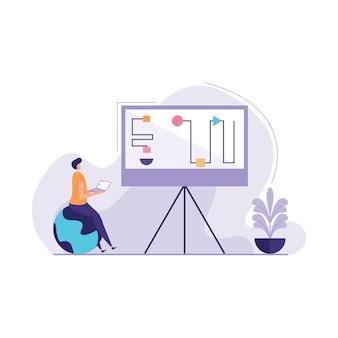 Concept of innovation solution illustration