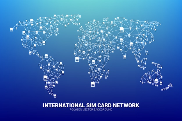 Concept for international sim card service  and network.