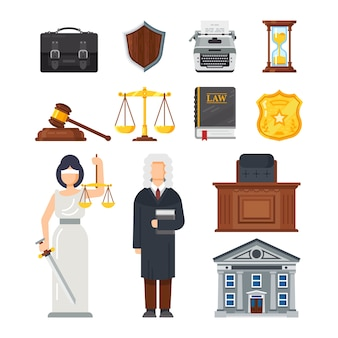 Concept of the judicial system  illustration.