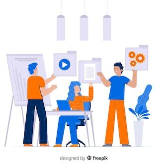 Концепция целевой страницы сотрудников