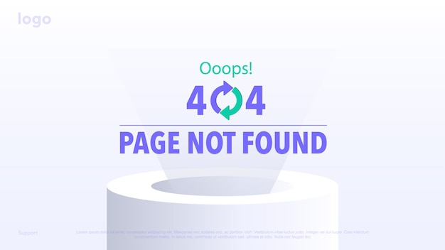 Concept loading page for sites error page page not found error 404 error ooops