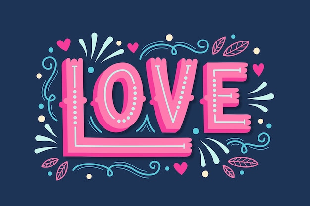 Concept for love lettering message