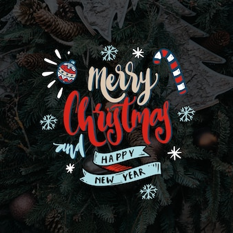 Concept for merry christmas lettering
