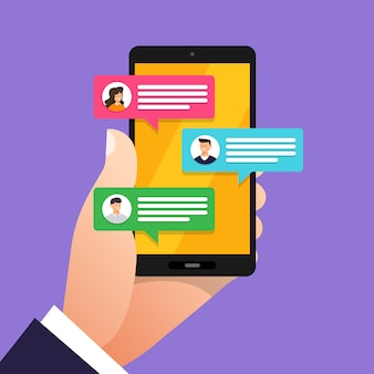Concept message and chat. present by icon text message.  illustrate