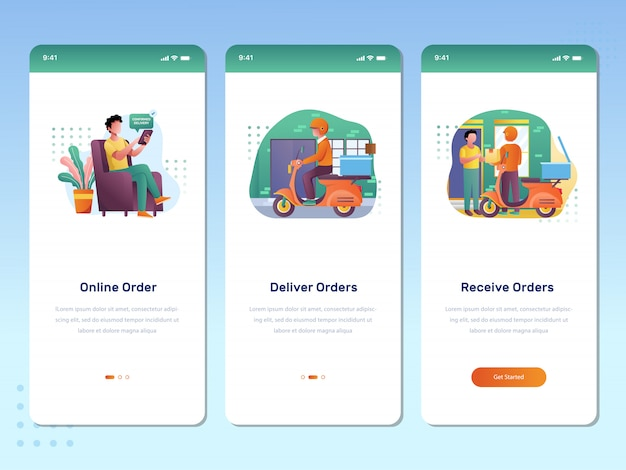 Concept mobile application for online orders