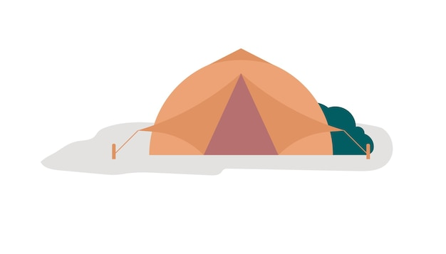 Concept of the mobile home vector image. web banner tent for camping. camping fresh housing design.