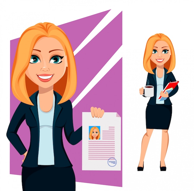 Concept of modern business woman