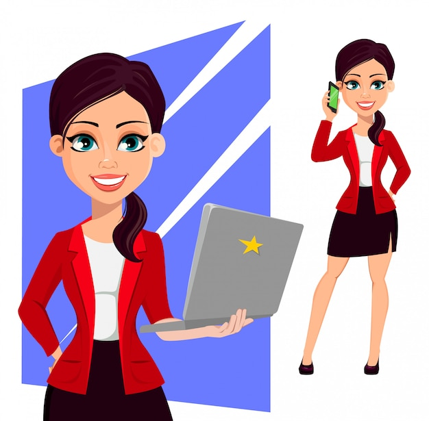 Concept of modern businesswoman