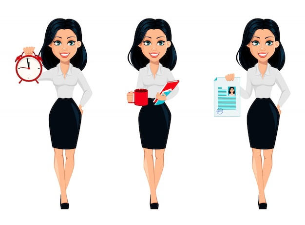 Concept of modern young business woman