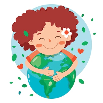 Concept of mother earth day