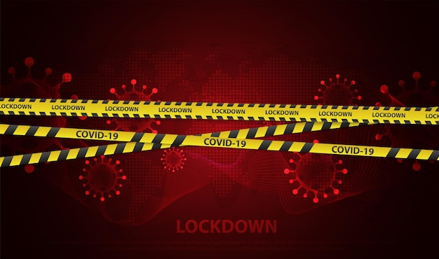 Concept of national lockdown due to coronavirus announce movement control order emergency state