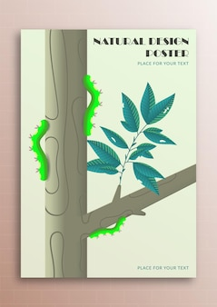 The concept of nature in a poster design with gradients