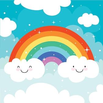 Концепция красочной радуги