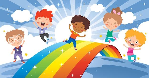 カラフルな虹のコンセプト