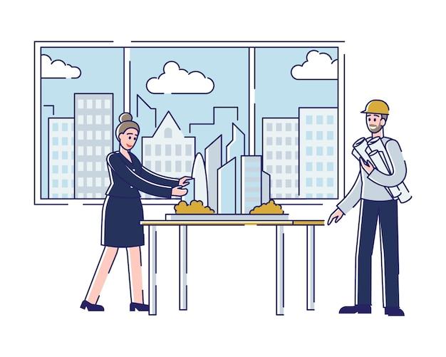 建築家の職業の概念
