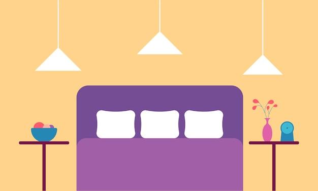 현대적인 스타일의 침실 인테리어 디자인의 개념