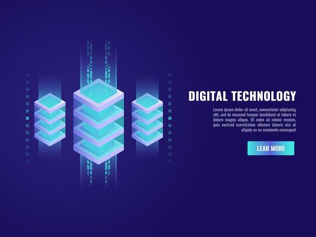 빅 데이터 처리, 미래의 에너지 스테이션, 서버 룸 랙의 개념