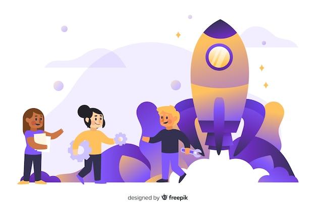 로켓을 구축의 개념