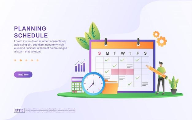 Концепция расписания или расписания занятий, создание личного учебного плана, планирование и планирование учебного времени.