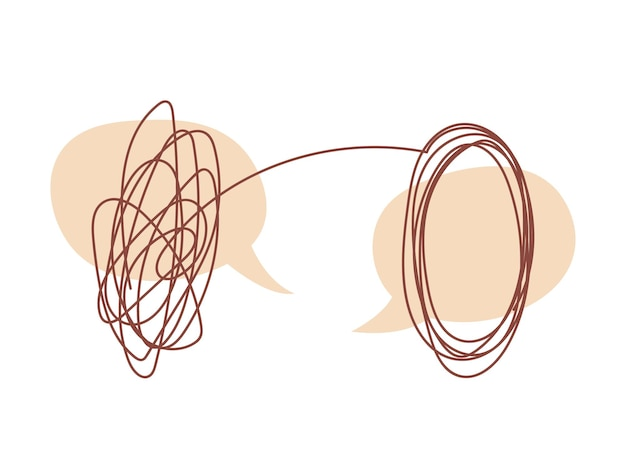 Концепция разговора с психотерапевтом диалог пузырей и распутывание проблем