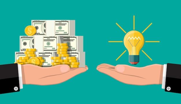 창의적인 아이디어 또는 영감의 개념
