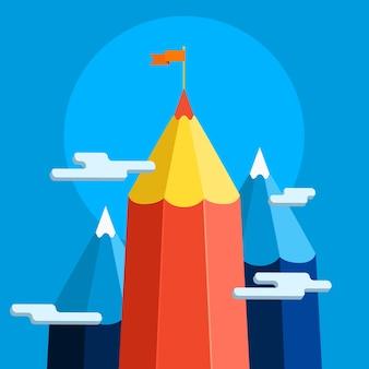 創造的な成功の図の概念
