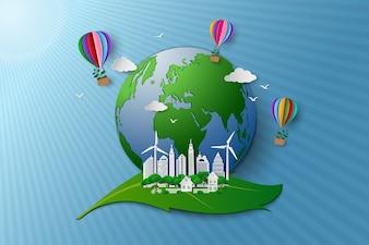 環境にやさしい環境保全のコンセプト