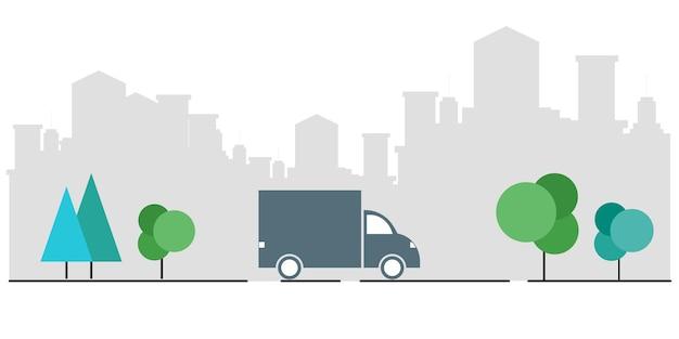속달 배송의 개념 휴대폰에서 배송 서비스 애플리케이션을 확인하세요.