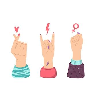 Концепция женской силы, сильные женщины и сестринские жесты.
