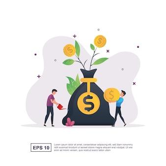 투자 수익을 가져 오는 사람들과의 투자 개념