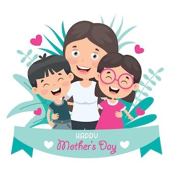Концепция поздравления с днем матери