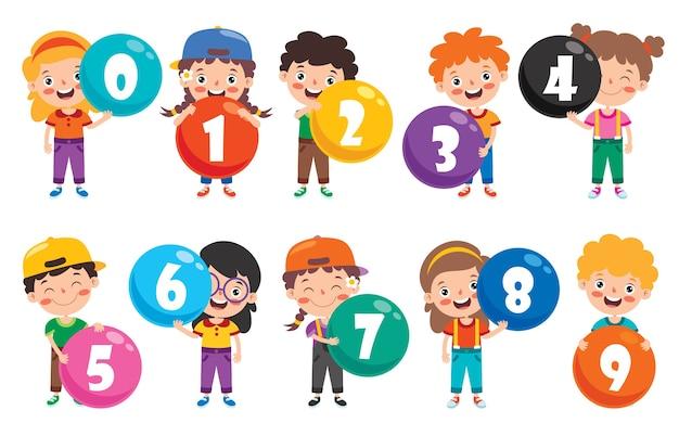 Понятие о разноцветных числах