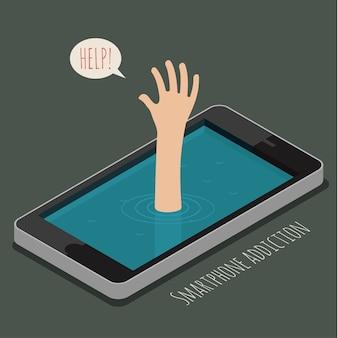 Концепция зависимости от смартфона