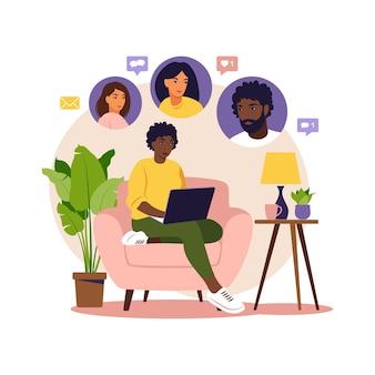 소셜 프로모션의 개념, 친구 추천, 추천 및 적립. 추천 마케팅.