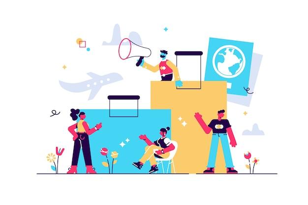 休暇の計画、出張、旅行、スーツケース、観光セットの概念