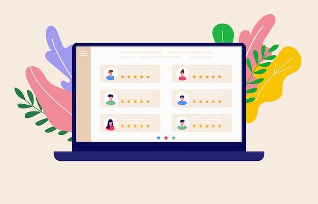 ビデオ会議とオンライン会議ワークスペースの概念。ビジネスの人々が取っている、レポート、チラシ、マーケティング、リーフレット、広告、パンフレット、モダンなスタイルのベクトルを含むデザインテンプレート。